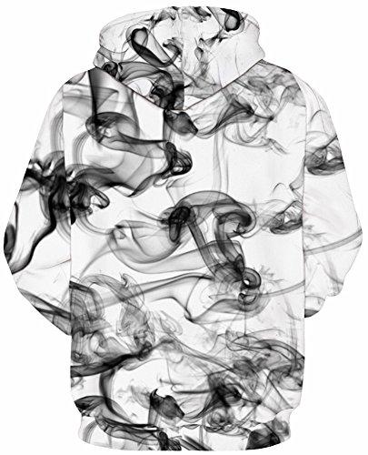 TDOLAH Herren Bunt Digitaldruck Kapuzenpullover 3D-Druck Hoodie Langarm Pullover Sweatshirts Rauch