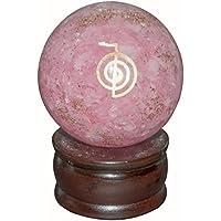 Crocon Rosenquarz Energetische Kugel Ball Cho KU Rei Symbol Energie Generator für Reiki Healing Chakra Balancing... preisvergleich bei billige-tabletten.eu