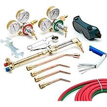 Kit de corte de soldadura de acetileno y oxígeno, para soldadura de alta precisión,