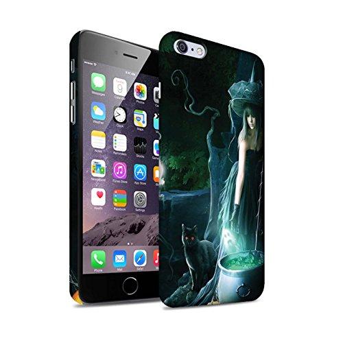 Officiel Elena Dudina Coque / Clipser Matte Etui pour Apple iPhone 6S+/Plus / Somnambule/Insomnie Design / Magie Noire Collection Sorcière Chaudron