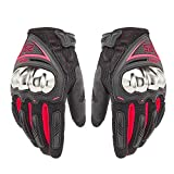 Swyout Herren Winter Motorrad Handschuhe Wasserdicht Winddicht Atmungsaktive Reithandschuhe Touch Screen Hard Knuckle Handschuhe, für Radfahren, Reiten, Laufen, Outdoor-Sport
