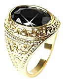 Inception Pro Infinite Rptrnr - Goldfarbener Ring mit schwarzem Stein