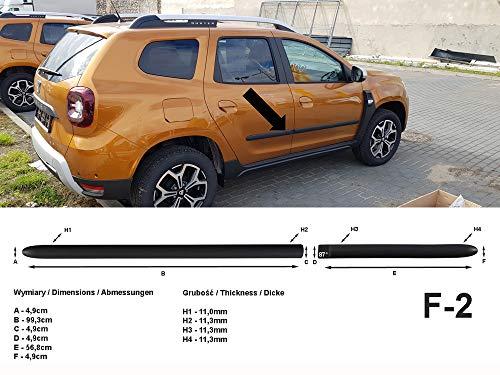 Spangenberg Seitenschutzleisten schwarz für Dacia Duster II SUV 2. Generation ab Baujahr 10.2017- F2 (370000207)