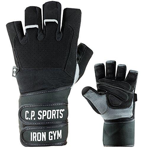 C.P. Sports Profi-Gym-Doppelbandagen-Handschuh, Fitnesshandschuh, Trainingshandschuh L - Gepolstert 3-sitz