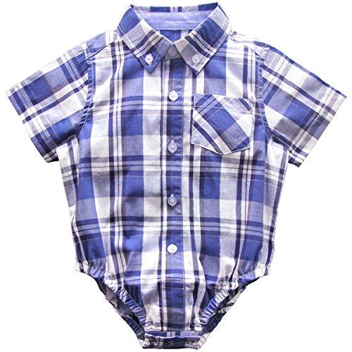 Bebone Baby Bodys Jungen Hemd Neugeborenen Strampler Babykleidung (6-9 Monate, Blau)