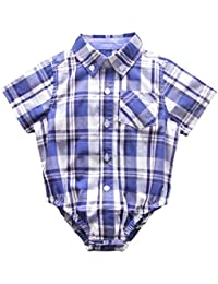 Bebone Monos Bodies Camiseta Manga Corta para Bebé Niño Niña Algodón