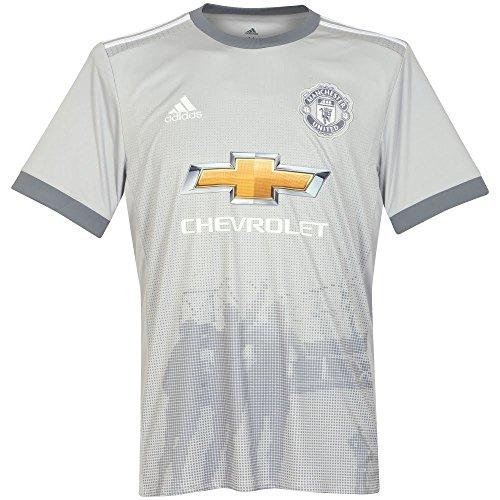 Adidas MUFC 3 JSY Camiseta 3ª Equipación Manchester United FC, Hombre, (grpulg/Blanco / Gris), XS