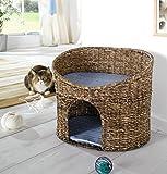Katzenhöhle Korb mit Kissen geeignet für kleine Katzen