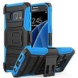 MoKo HTC One A9 Hülle [Heavy Duty Serie] Outdoor Dual Layer Armor Case Handy Schutzhülle Schale Bumper mit Gürtelclip und Standfunktion für HTC One A9 5.0 Zoll Android 6.0 2015 Smartphone, Blau