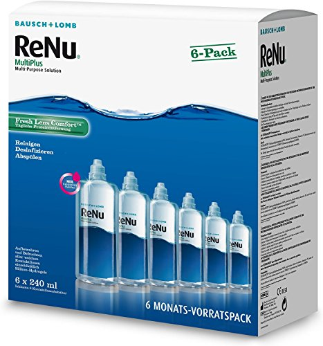 ReNu MultiPlus Pflegemittel für weiche Kontaktlinsen, 6-Monatspack (6 x 240 ml)