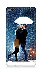 Amez designer printed 3d premium high quality back case cover for Xiaomi Redmi 3S (Kissing Couple in Rain Umbrella)