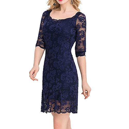 E-Girl Ov1046 Damen Abendkleid Blau