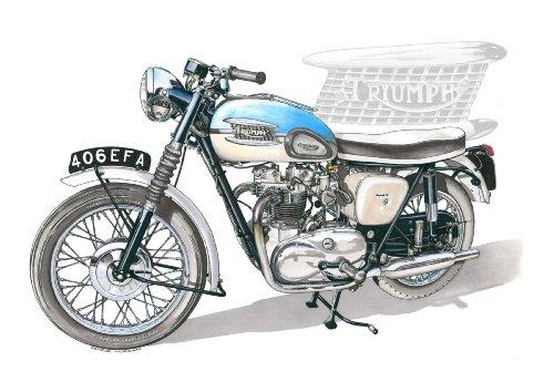 Biglietto d'auguri Triumph Bonneville T120 Pre-Unit,, usato usato  Spedito ovunque in Italia