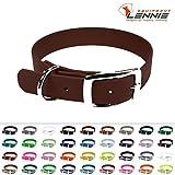 LENNIE BioThane Halsband, Dornschnalle, 19 mm breit, Größe 30-36 cm, Rotbraun, Aufdruck möglich, 4 Größen, 48 Farben, Hundehalsband