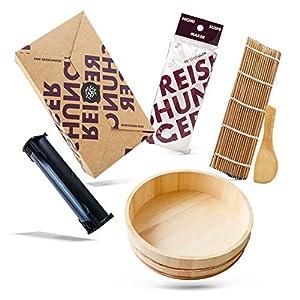 Reishunger Sushi Equipment Box XXL (mit Easy Sushi Maker 3,5cm) - Komplettes Zubehörset für den perfekten Sushi Abend