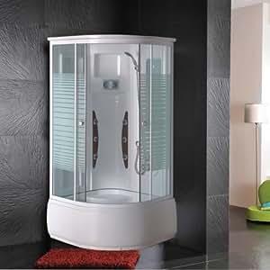 Cabina idromassaggio 90x90 multifunzione con vasca e box doccia fai da te - Cabina vasca da bagno ...
