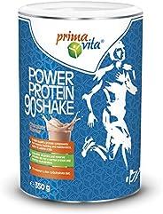 Primavita - Power Protein 90, proteine in polvere per shake con 5 fonti proteiche, gusto cioccolato, 350 g, 11