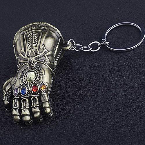 VAWAA Avengers 4 Infinity War Thanos Infinite Power Glove Gauntlet Gold Men 3D Model Keychains Keyring Cosplay Gift (Infiniti Keyring)