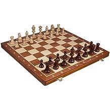"Wegiel Chess Set - Tournament Staunton Complete No. 6 Board Game - Hand Made European 21""x 21"" Set"