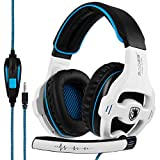 [2017 SADES SA810 New Released Multi-Platform New Xbox one PS4 Gaming Headset ], Gaming Headsets Headphones For New Xbox one PS4 PC Laptop Mac iPad iPod (White)