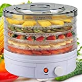 Sohler Electric Round Large Food Dehydrator Machine with 5 Trays for Fruit Veg