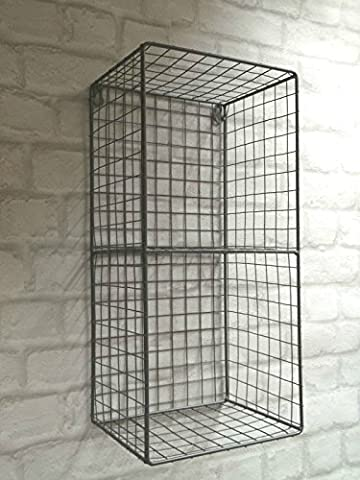 industriel en fil métal Locker Room étagère de rangement haut unité de mur d'affichage 47cm