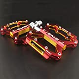 TENGGO Aluminium MTB Mountain Road Pedale BMX Bike 3 Bearing Ultralight Professional Bike Pedal-Rot