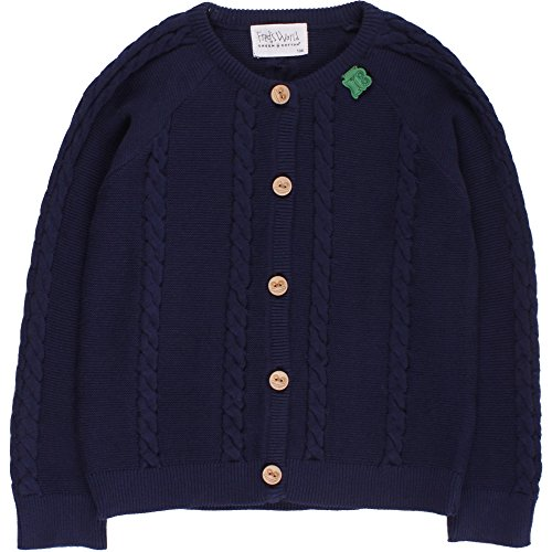 Fred's World by Green Cotton Jungen Strickjacke Cable Knit Cardigan, Blau (Navy 019392001), 110
