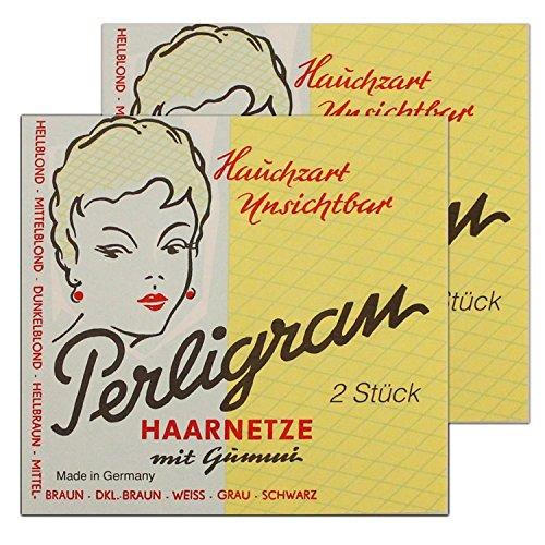 Haarnetze Perligran 2 Stck ++ DAS Ostprodukte Geschenk – DDR Traditionsprodukt und Ossi Kultprodukt – Geschenkidee für alle Ostalgiker aus Ostdeutschland vom Ostprodukte Experten – Ostpaket mit DDR Klassiker – Ideal für jedes DDR Geschenkset