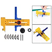 OFKPO Compass Cutter Cut Diameter 1cm-15cm for Cutting Paper, Card, Leather