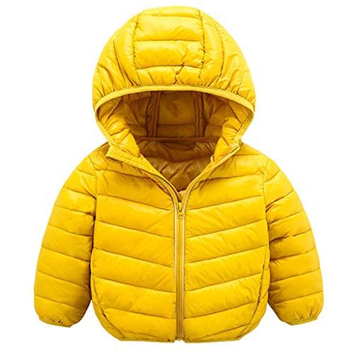 Obestseller Unisex Kinderjacke einfarbig Langarmjacke Baumwolle Kapuzenjacke warme Winterjacke Reißverschluss Dicker Kapuzenpulli geeignet für 1-8 Jahre (Weihnachten)