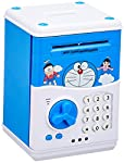 Doraemon kids money bank with passord protection and nobody can see what you put inside without knowing your password.