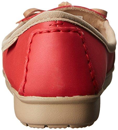 Crocs Wrap Colorlite Ballet Flat, Ballerines femme Rouge (Pepper/Tumbleweed)