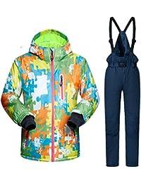 Keamallltd Kids Ski Suit Niños a Prueba de Viento Niñas Coloridas para niño  Snowboard Snow Jacket 032c5389679