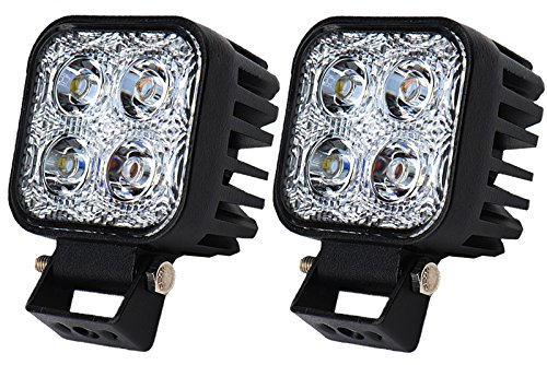 Himanjie 2 pezzi Lampada a LED 12W 18W fanale posteriore per veicoli faro da lavoro luce bianca fredda impermeabile IP67 (12W)