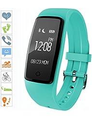 Sumeber Bluetooth Smart Bracelet Smart montre avec moniteur de fréquence cardiaque Sports Fitness tracker pour smartphone podomètre suivi Calorie Santé du moniteur de sommeil gratuit Fitness App pour Android et iOS