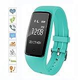 sumeber Bluetooth Smart Armband Smart Uhr mit Herzfrequenz Monitor Sports Fitness Tracker für Smartphone Schrittzähler Tracking Kalorien Gesundheit Sleep Monitor Kostenlose Fitness App für Android & iOS, blau