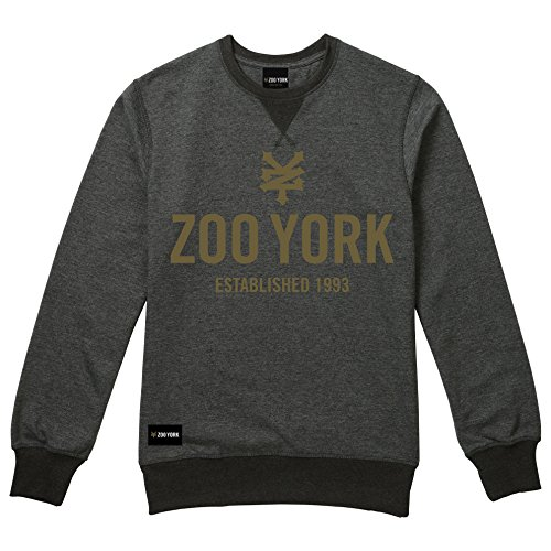 Zoo York Herren Sweatshirt Templeton Black (Black Heather)