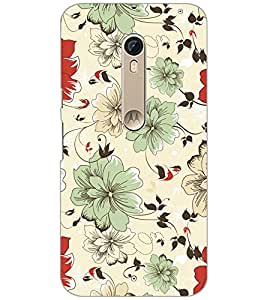 PrintDhaba FLOWER PATTERN D-6392 Back Case Cover for MOTOROLA MOTO X PURE EDITION (Multi-Coloured)