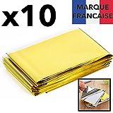 TAKIT Couverture De Survie 10x - Réutilisable - Extra Large - 210 * 160cm -...