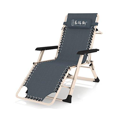 Poltrone reclinabili feifei sedia pieghevole sedia reclinabile per uso domestico sedia da ufficio per balcone siesta sedia portatile multifunzione schienale sedia pigro/sdraio da giardino per estern