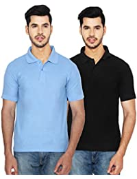 ANSH FASHION WEAR Regular Fit Polo T-shirt Combo For Men - Half Sleeves Casual Men's Polo - Set Of Two - Black...