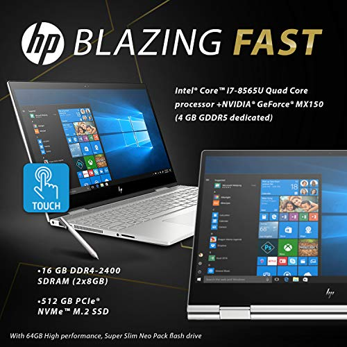 "HP Envy x360 15T Late 2019 i7-8565U 1.8GHz, 4GB MX150 Nvidia, 16GB RAM, 1TB 7.2K RPM+16GB Intel Optane, 15.6"" FHD Contact, Win 10 Dwelling, B&O Audio system, HP Stylus, USB-C, Fingerprint Reader Image 2"