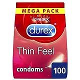 Durex Thin Feel Condoms, Pack of 100