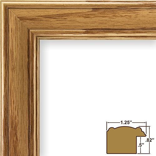 11x14-picture-poster-frame-wood-grain-finish-125-wide-honey-oak-59504100-by-craig-frames-inc