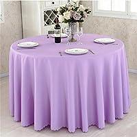 Ispessimento Solid Color Hotel Table Cover Ristorante Tovaglia Meeting Picnic Wedding Banquet Rosso circolare Tovaglia ( colore : C. , dimensioni : 300cm )
