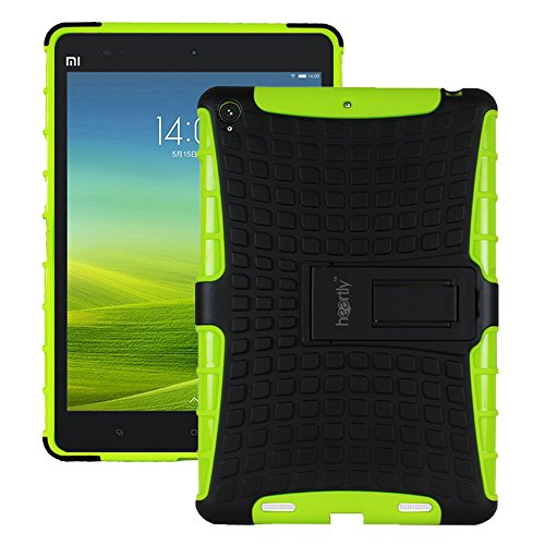 Heartly Flip Kick Stand Spider Hard Dual Rugged Armor Hybrid Bumper Back Case Cover For Xiaomi Miui Mi Pad 7.9 - Great Green