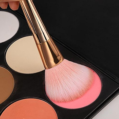 Demarkt 7Pcs Professional Powder Cosmetic Makeup Brushes + Gift(Rose Gold)