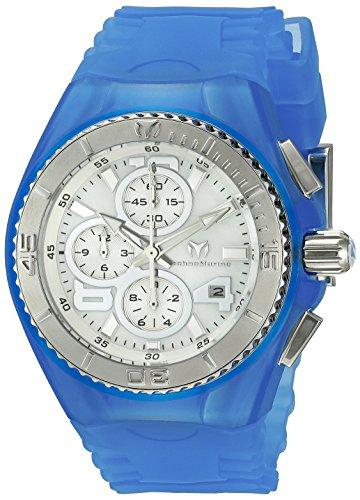TechnoMarine TM-115262 - Reloj de Pulsera Mujer, Silicona, Color Azul