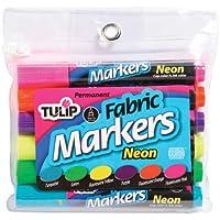 I Love To Create Tulip Fabric Markers 6/Pkg-Neon
